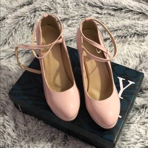 Shoes - Patent Leather Pink Heels